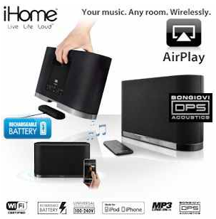 [iBOOD] wireless Lautsprecher: iHome   iW1, AirPlay inkl. Versand 205,90€!