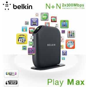 [iBOOD] Wireless N Router: Belkin Play Max Dual Band, inkl. Versand 35,90€