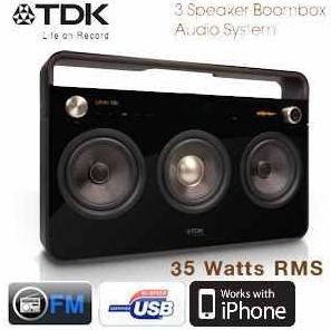TDK High End 3 Speaker: Boombox Audiosystem inkl. Versand 358,90€ (Preisvergleich 450€)