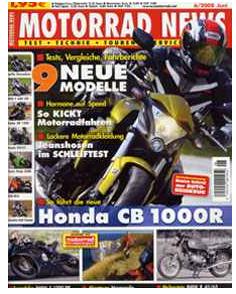 Motorrad News: 12 Monate für 23,80€ + 15€ Verrechnungsscheck + 5€ Gutschrift