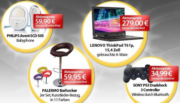 [meinpaket.de] Die OHA Angebote zum Wochenende! Z.B. Lenovo ThinkPad T61p (gebrauchte A Ware) für nur 279€