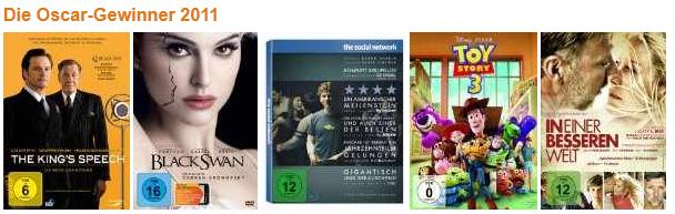 [Amazon] Blu rays: Oscarspecial 2011!