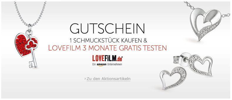 [Amazon] Valentinstagsangebot: 1 Schmuckstück kaufen, 3 Monate Lovefilm gratis dazu!