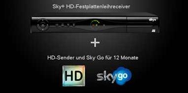 SKY Sale: 12 Monats Abonnement bei Sky mit allen Premium Paketen und Festplattenrecorder 33,90€ (statt 65,90)