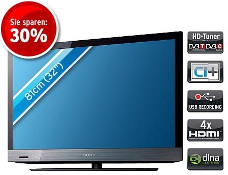Sony KDL 32EX521 32″ Full HD Edge LED mit USB Recorder als B Ware für 345€ inkl. Versand (Preisvergleich 459€)