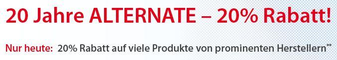 [Alternate] Nur heute: 20% Rabatt auf Artikel verschiedener Hersteller! Z.B. MSI Big Bang XPower II für 285,95€ (Vergleich: 338€)