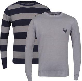 [Zavvi] Ringspun Mens 2 Pack Hope Crew Neck Jumper für 19,15€ & Jack and Jones Mens Dirt Sweater für 16,76€   inkl. Lieferung