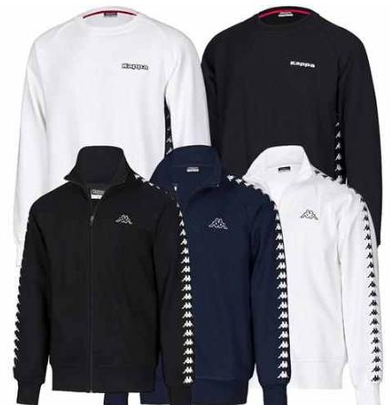 [ebay Wow] Kappa Sweatshirt oder Sweatjacke, in weiß, navy oder schwarz von S bis XXL, inkl. Versand 16,99€