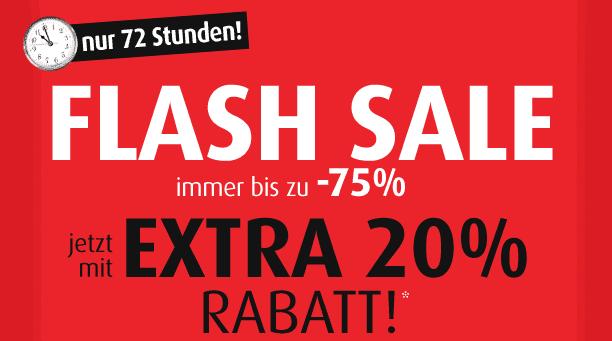 [MandMDirect] Flash Sale: Bis 75 Prozent Rabatt + 20 Prozent Extra Rabatt bis zum 19. März, 11 Uhr.