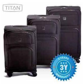 [iBOOD] Titan: 3 teiliges 4 Rollen Trolleys Set, inkl. Versand 88,90€