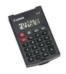 [Amazon] 3x CANON AS 8 Taschenrechner mit Abdeckung für nur 4,99€ inkl. Lieferung