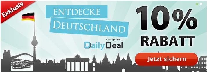 [DailyDeal] 10% Rabattcode auf alle Deutschland Deals