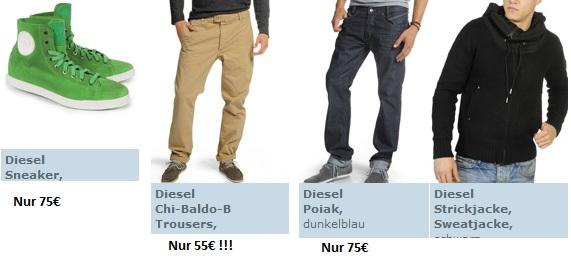 DIESEL Sale bei dfl + 15€ Gutschein für Neukunden! (Diesel Hosen ab 55€)