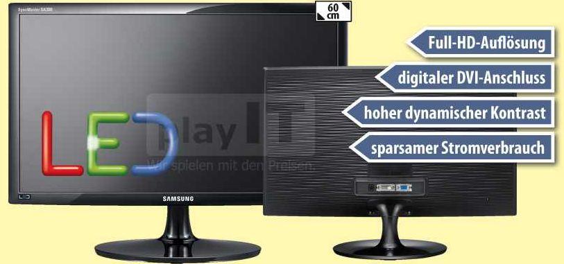 [ebay Wow] 24er LED Monitor: Samsung SyncMaster 60 cm mit FullHD und DVI inkl. Versand 129€