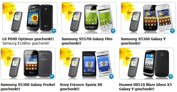 KOSTENLOSE Handys (+25 SMS +25 Min./Monat) durch Vertrag der Kostenlos ist! (durch Erstattung!)
