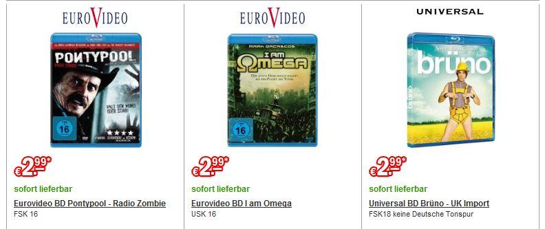 [redcoon] Verschiedene Blu rays für je nur 2,99€ zzgl. Versand! Teilweise jedoch nur mit O Ton!