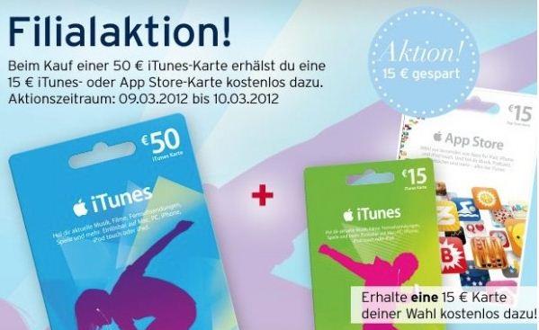 [Karstadt Offline Deal] 50€ iTunes Karte kaufen & weitere 15€ iTunes Karte geschenkt dazu!