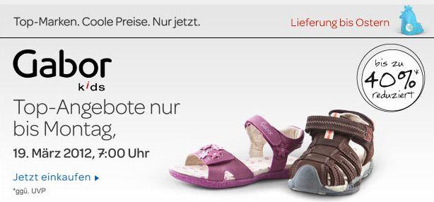 [eBay] Gabor Kids Schuhe mit bis zu 40% Rabatt!