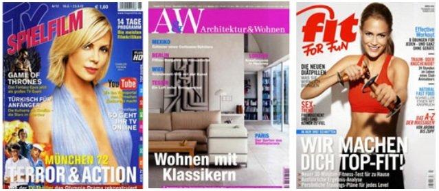 [UPDATE] Halbjahres Abos mit effektiven Gewinn (z.B.: Architektur & Wohnen, TV Spielfilm, …. uvm.)