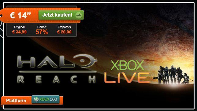 [HitFox] Halo: Reach als Download für Xbox 360 nur 14,99€ (Vergleich: DVD Version: 35€)