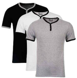 [the hut] 3 Pack: 55 Soul Men's Blade T Shirts – Schwarz/Weiß/Grau, inkl. Versand für 9,69€