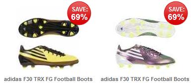 [thehut] Fussballschuhe: Adidas F30 TRX FG (gelb oder lila) inkl. Versand 18,49€