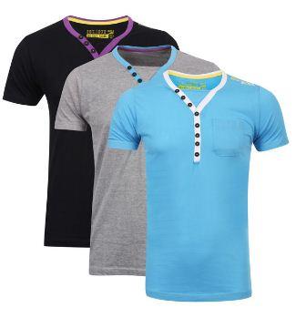 [the hut] Bravesoul Mens 3 Pack Chiverton V Neck T Shirt für 13,17€ & Benzini Mens Button Pocket Detail Knit für 16,77€