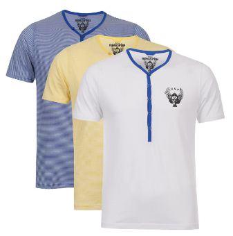 [the hut] 3er Pack Ringspun Meteor Short Sleeve Grandad T Shirts für 19,09€ & Bravesoul Mens Bate Long Sleeve Shirt für 13,12€