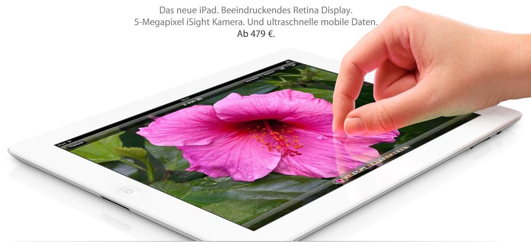 Info zum neuen Apple iPad (ipad 3) Release (Update)