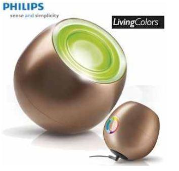 [iBOOD] Philips Living Colors: Mini LED Stimmungslicht in Kupfer Gold mit automatischem Farbwechsel und inkl. Versand 45,90€