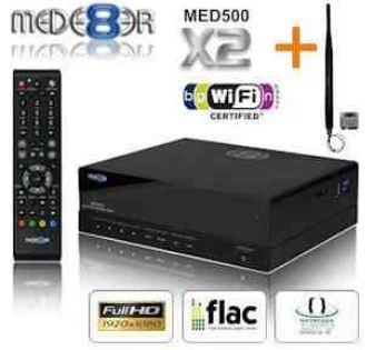 [iBOOD] Full HD Media Player: Mede8er MED500X2 + 5dB W Lan Antenne, Gigabit LAN, USB3.0 inkl. Versand 135,90€