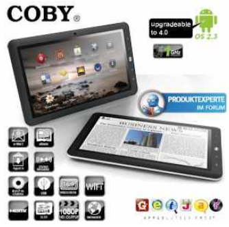 "[iBOOD] 10.1"" Android 2.3 Tablet: Coby Kyros 25,4cm inkl. Versand 175,90€"
