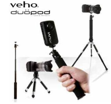 [iBOOD] kompaktes Multifunktions  Dreibeinstativ: Veho Duopod für Digitalkameras inkl. Versand 25,90€