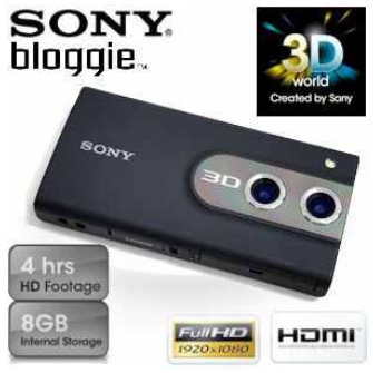 [iBOOD] Full HD Pocketkamera: Sony Bloggie 3D für Videos mit Stereo Sound inkl. Versand 135,90€