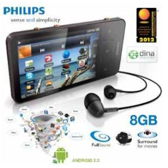 [iBOOD] Mini Tablet: Philips GoGear, 8GB Android mobiler MP3 und Video Player, inkl. Versand 105,90€