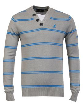 [the hut] Kangol Mens Kev Buttoned V Neck Jumper für 13,61€ & Carter Mens Duke Polo Shirt für 12,65€
