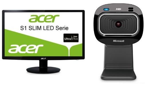 Acer S231HLBID 23″ Slim LED Monitor + Microsoft LifeCam HD 3000 nur 115€ zusammen! (Preisvergleich 152€)