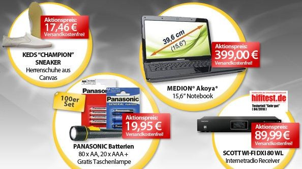 [meinpaket.de] Die OHA Angebote zum Wochenende! Z.B. Medion Akoya E6221 (MD 97981) für nur 399€ (Vergleich: 475€)