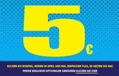 Ryanair Flüge (one way) für 11€ inkl. Steuern & Gebühren