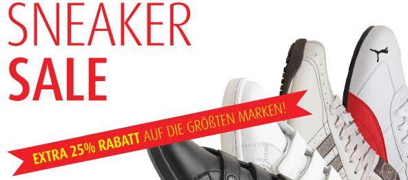 [MandMDirect] 25% Rabatt auf Markensneaker   Adidas, Reebok, Puma, ...