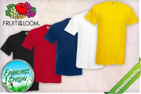 [Groupon] 5er Pack Fruit of the Loom T Shirts für nur 11,11€ inkl. Lieferung