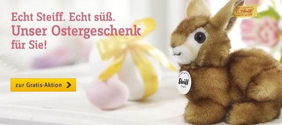 [Baur] 15€ Neukundengutschein + Steiff Hase GRATIS (MBW 70€)