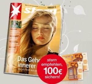 [Abo Knaller] Stern Magazin für 169€ im Jahresabo + 100€ Verrechnungsscheck & IN das Lifestyle Magazin sehr günstig