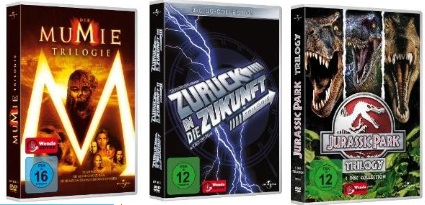 Reduzierte Film Trilogien ab 8,98€: Zurück in die Zukunft, Die Mumie, Scream...!