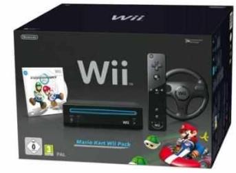 [ebay] Konsolen Bundle: Nintendo Wii und Mario Kart mit Lenkrad, schwarz inkl. Versand 119,99€