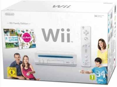 [ebay Wow] Spielkonsole: Nintendo Wii   Family Edition, inkl. Wii Party & Sport und Versand 129€