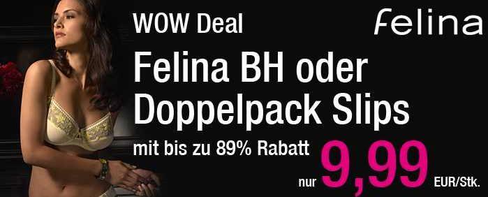 [ebay Wow] Felina: BH und Doppelpack Slips, verschiedene Modelle inkl. Versand je 9,99€