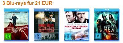 [Amazon] Aufgestockt: 3 Blu rays für 21€ inkl. Versand
