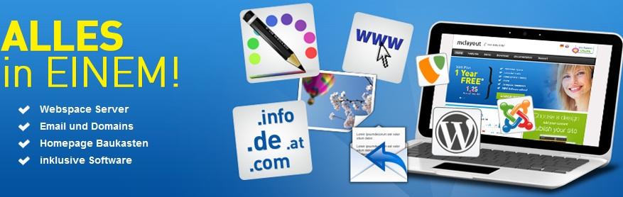 [Kostenlos!] 1 Jahr Webhosting inkl. de  oder at Domain, 5GB Space und PHP