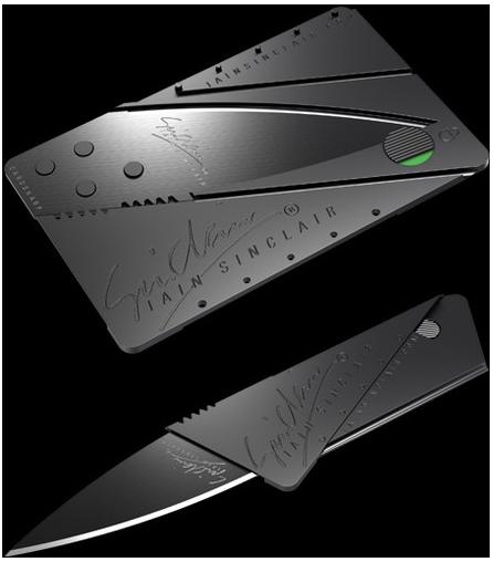 [Gadget Tipp!] Original Ian Sinclair Cardsharp Messer für nur 21€ (Messer im Kreditkartenformat)